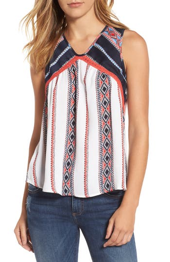 Women's Thml Coutout Back Mixed Print Top