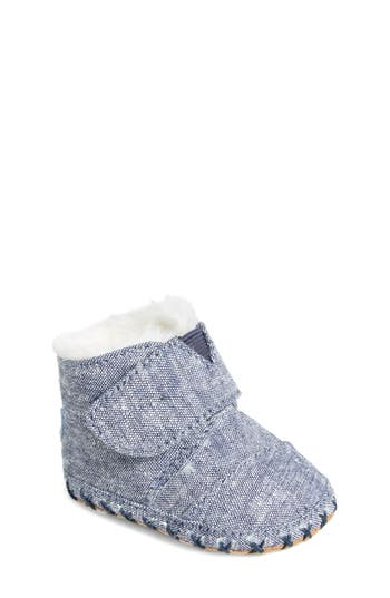 Boys Toms Tiny Cuna Faux Fur Crib Bootie