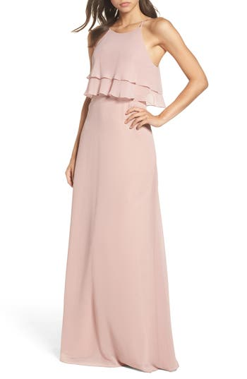 Jenny Yoo Charlie Ruffle Bodice Gown, Pink