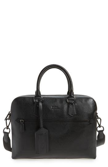 Polo Ralph Lauren Commuter Leather Briefcase - Black