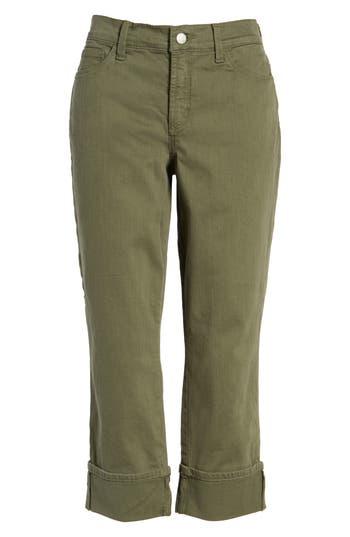 Women's Nydj Dayla Colored Wide Cuff Capri Jeans
