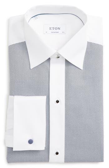 Men's Big & Tall Eton Contemporary Fit Tuxedo Shirt, Size 17.5 - Grey
