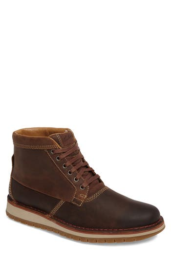 Clarks Varby Plain Toe Boot, Brown