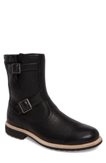 Ugg Jaren Zip Boot With Genuine Shearling, Black