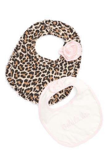 Infant Girls Kate Spade New York Ooh La La 2Piece Bib Gift Set
