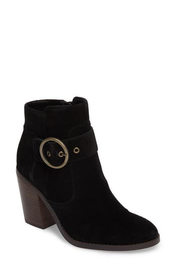 Sole Society Grove Buckle Bootie, Black