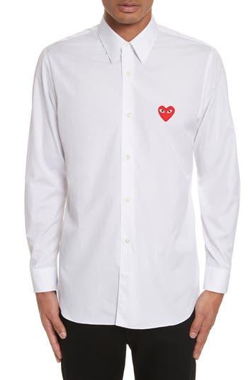 Men's Comme Des Garcons Play Woven Cotton Shirt