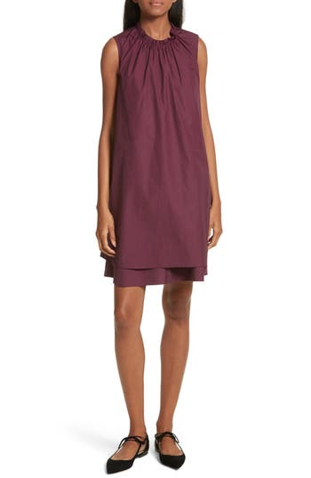 Ted Baker London Ezmay Tiered Shift Dress, Burgundy