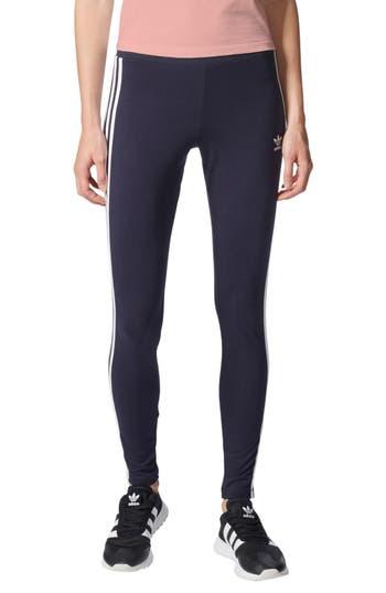 Adidas Originals Logo Leggings, Blue