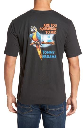 Big & Tall Tommy Bahama Squawkin To Me Graphic T-Shirt - Black