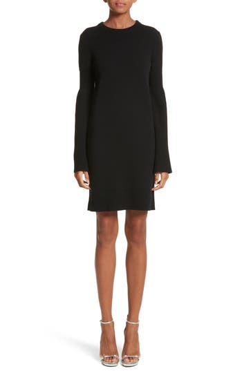 Michael Kors Cashmere Blend Bell Sleeve Dress, Black