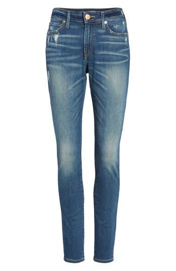 True Religion Brand Jeans Jennie Curvy Ankle Skinny Jeans, Blue