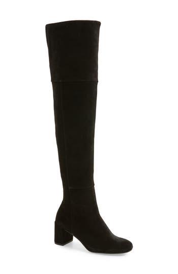 Taryn Rose Catherine Over The Knee Boot, Black
