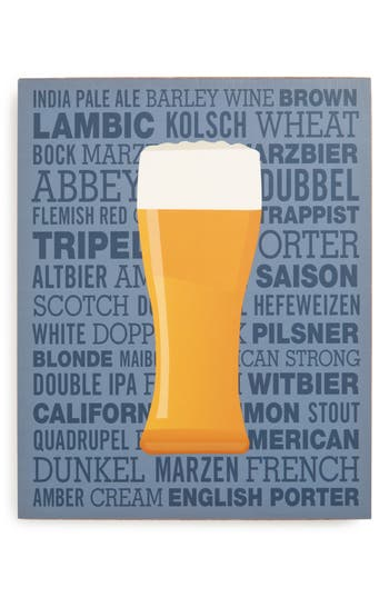 Lucius Designs Beer Wall Art, Size One Size - Blue