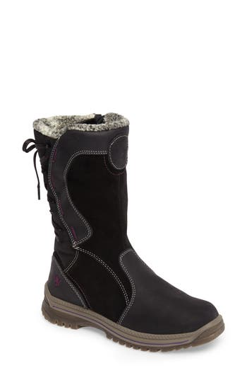 Santana Canada Mayer Faux Fur Lined Waterproof Boot, Black