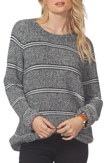 Women's Rip Curl Raine Stripe Sweater, Size X-Small - Blue