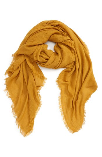 Women's David & Young Textured Square Scarf, Size One Size - Yellow