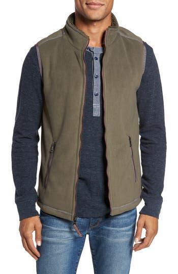 Men's True Grit Bonded Fleece Zip Front Vest, Size Small - Green