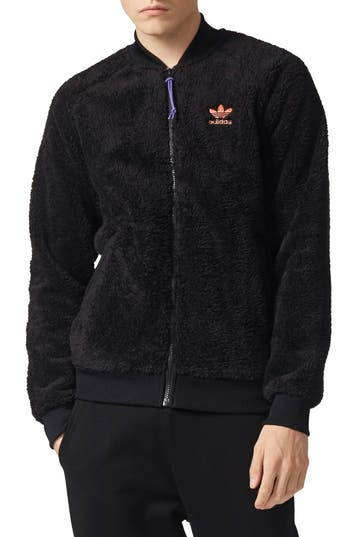 Adidas Originals Pharrell Williams Hu Hiking Fleece Track Jacket, Black