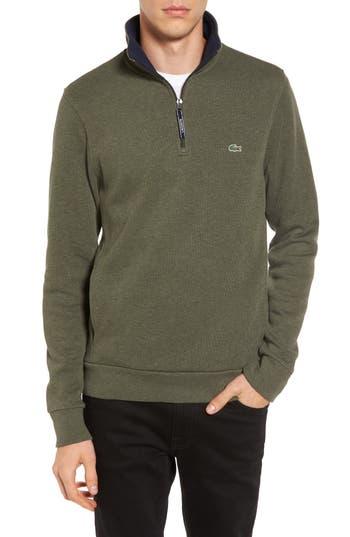 Lacoste Quarter Zip Sweatshirt, (m) - Green