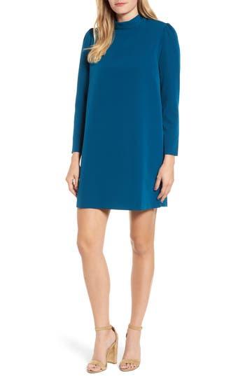 Halogen Bow Back Ponte Shift Dress, Blue/green