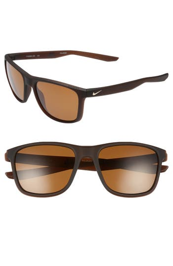 Nike Unrest 57Mm Polarized Sunglasses - Brown