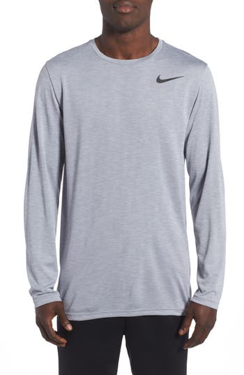 Nike Long Sleeve Training T-Shirt, Grey