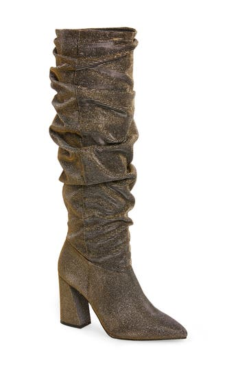 Kenneth Cole New York Genevive Slouch Boot- Metallic