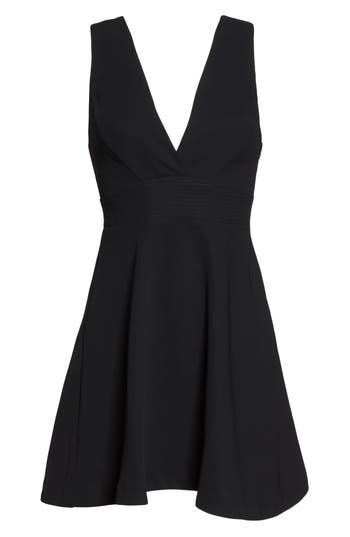 Greylin Elinda Fit & Flare Minidress, Black