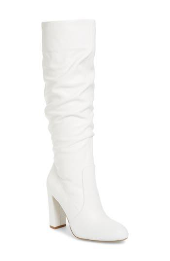 Steven Madden Eton Boot- White