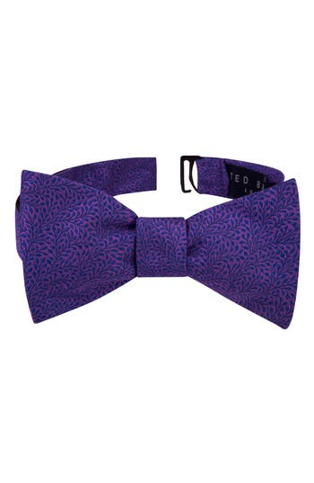 Men's Ted Baker London Grand Botanical Silk Bow Tie, Size One Size - Pink
