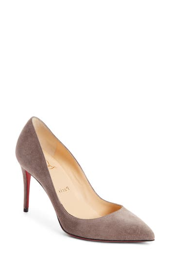 CHRISTIAN LOUBOUTIN PIGALLE FOLLIES POINTY TOE PUMP, STORM BEIGE