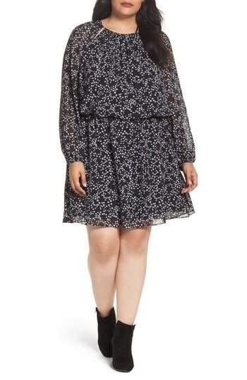 Plus Size Michael Michael Kors Shooting Star Blouson Dress, Black