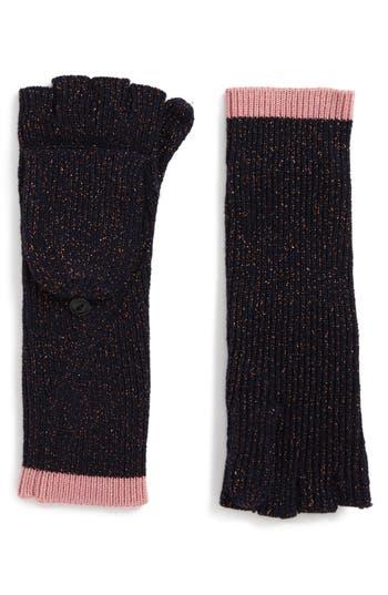 Rag & Bone Jubilee Shimmer Fingerless Merino Wool Blend Gloves, Size One Size - Blue