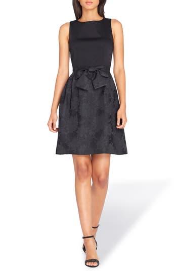 Tahari Bow Fit & Flare Dress, Black