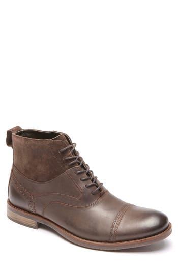 Rockport Wynstin Cap Toe Boot, Brown