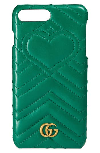 Gucci Gg Marmont Leather Iphone 7 Case - Green