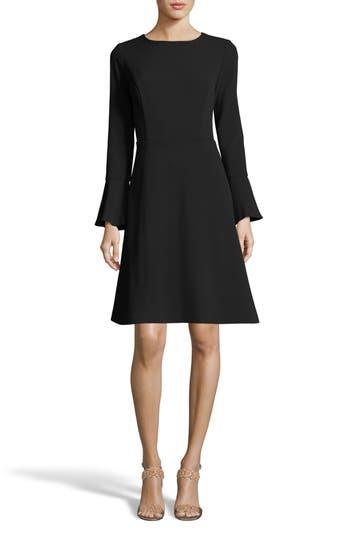 Eci Fit & Flare Dress, Black