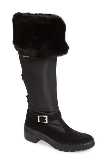 Pajar Norah Waterproof Boot With Faux Fur Cuff, Black