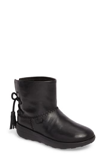Fitflop Mukluk Shorty Ii Boot With Genuine Shearling Lining, Black