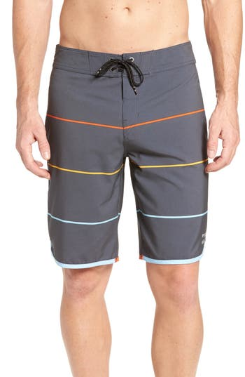 Billabong 73 X Stripe Board Shorts, Black