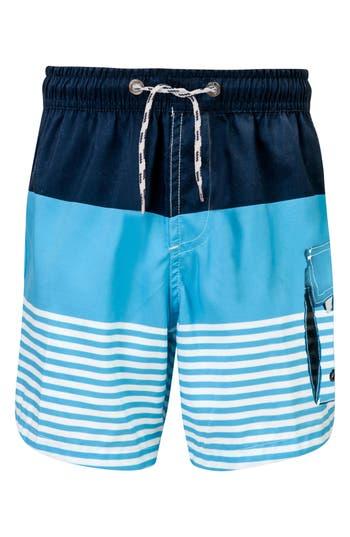 Boys Snapper Rock Stripe Board Shorts Size 12  Blue