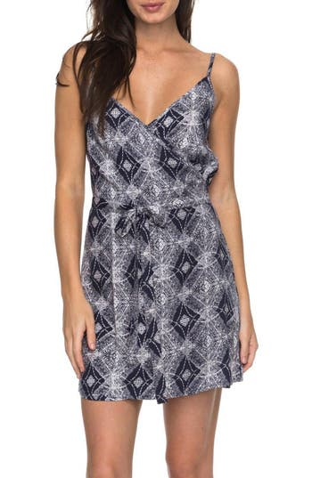 Roxy Drifting Current Wrap Dress, Blue