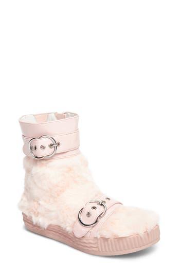 Jeffrey Campbell Vivant Faux Fur Sneaker Boot, Pink