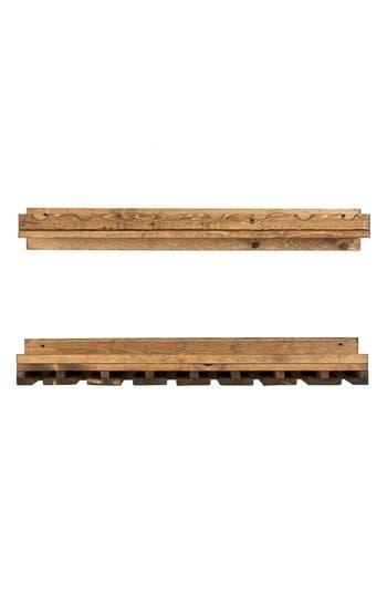 (Del)Hutson Designs Set Of 2 Pine Wood Wine Racks, Size One Size - Brown
