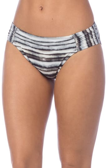 La Blanca Shirred Hipster Bikini Bottoms, Black