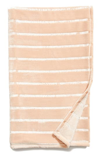 Nordstrom At Home Shimmer Stripe Throw, Size One Size - Pink