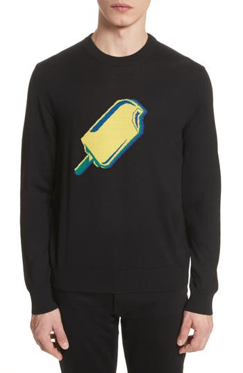 Paul Smith Popsicle Merino Wool Sweater, Black