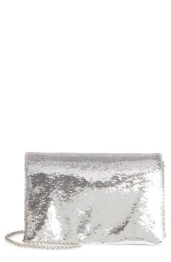 Street Level Sequin Clutch - Metallic