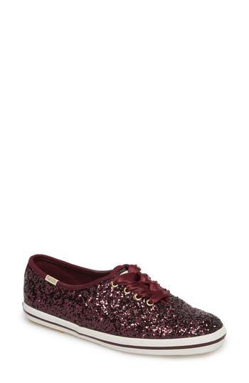 Keds For Kate Spade New York Glitter Sneaker, Burgundy